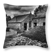 British Mine Throw Pillow
