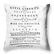 British Pamphlet, 1776 Throw Pillow