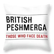 British Peshmerga Throw Pillow