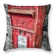 British Post Box Throw Pillow by Adrian Evans