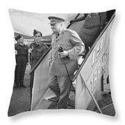British Prime Minister Winston Churchill Throw Pillow