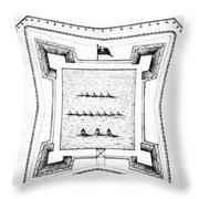 British Redoubt, 1777 Throw Pillow