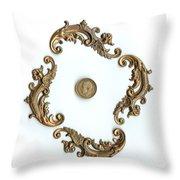 British Shilling Original Color  Throw Pillow by Joseph Baril