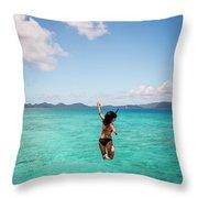 British Virgin Islands, Caribbean Throw Pillow