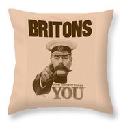 Britons Your Country Needs You  Throw Pillow