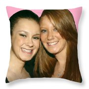 Brittany And Nicole Nutting Throw Pillow