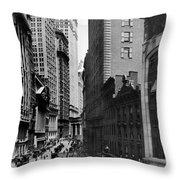 Broad Street, C1916 Throw Pillow