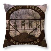 Broad Street Market Throw Pillow