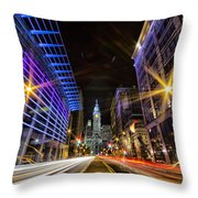 Broad Street North Throw Pillow