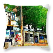 Broadway Oyster Bar With A Boost Throw Pillow