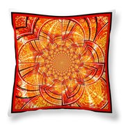 Brocade Abstract Throw Pillow