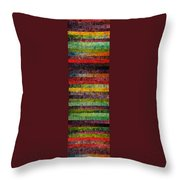 Brocade And Stripes Tower 1.0 Throw Pillow