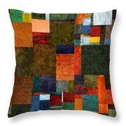 Brocade Color Collage 3.0 Throw Pillow