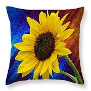 Brocade Daisy Throw Pillow