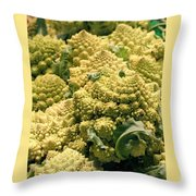 Broccoflower Throw Pillow