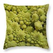 Broccoli Heirloom Throw Pillow