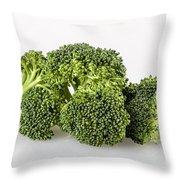 Broccoli Isolated Throw Pillow
