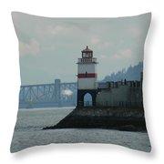 Brockton Point Lighthouse Throw Pillow