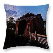 Brokeback Barn  Throw Pillow