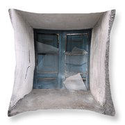 Broken Antique Window Throw Pillow