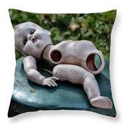 Broken Baby Doll Throw Pillow