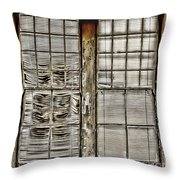 Broken Blinds At The Train Station By Diana Sainz Throw Pillow