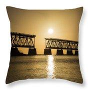 Broken Bridge Throw Pillow
