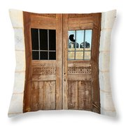 Broken Door Throw Pillow