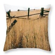 Broken Down Fence Throw Pillow