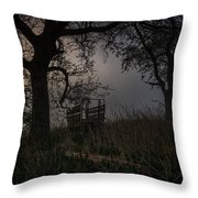 Broken Down Throw Pillow by Jeffrey Teeselink