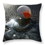 Broken Egg Throw Pillow by Matthias Hauser