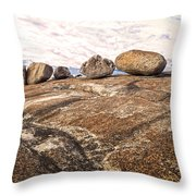 Broken Glacial Erratics Throw Pillow