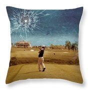 Broken Glass Sky Throw Pillow