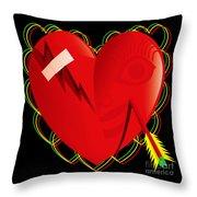 Broken Heart Mended Throw Pillow