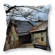 Broken Home Throw Pillow