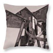 Broken Mill Throw Pillow