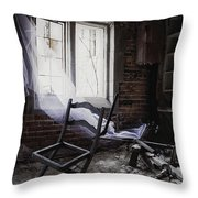Broken Past Throw Pillow