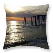 Broken Pier Throw Pillow