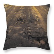 Broken Road Throw Pillow