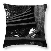 Broken Stairs Throw Pillow