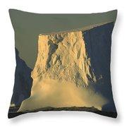 Broken Tabular Icebergs Antarctica Throw Pillow