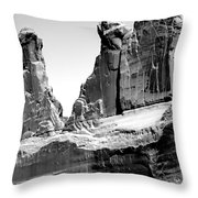 Broken Wall Bw Throw Pillow