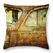 Broken Windshield Throw Pillow