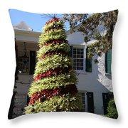 Bromelia Christmas Tree Throw Pillow