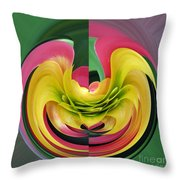 Bromiliad Abstract Throw Pillow