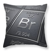 Bromine Chemical Element Throw Pillow
