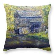 Bromley Mill At Cuttalossa Farm Throw Pillow