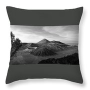 Bromo Valley Java Indonesia Throw Pillow