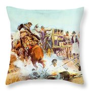 Bronc For Breakfast Throw Pillow