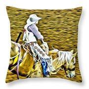 Bronc Rider Throw Pillow
